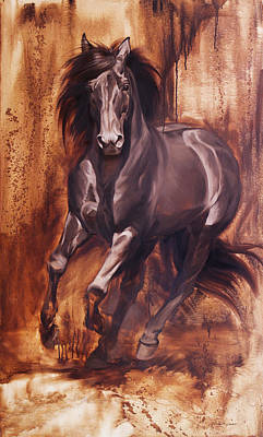 Horse Racing Painting - Liberty by JQ Licensing