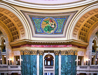 Photograph - Liberty Mural - Capitol - Madison - Wisconsin by Steven Ralser