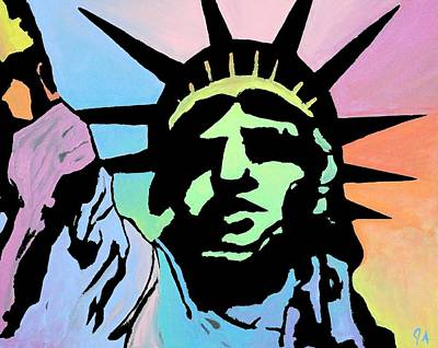 Painting - Liberty Of Colors - Bright by Jeremy Aiyadurai