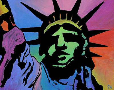 Painting - Liberty Of Colors by Jeremy Aiyadurai