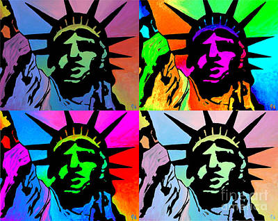 Painting - Liberty Of Colors - Mosaic by Jeremy Aiyadurai