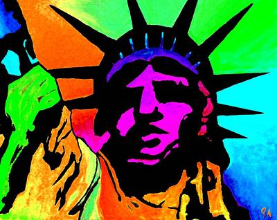 Painting - Liberty Of Colors - Saturated Hue by Jeremy Aiyadurai