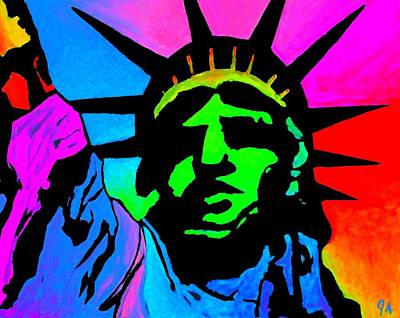 Painting - Liberty Of Colors - Saturated by Jeremy Aiyadurai