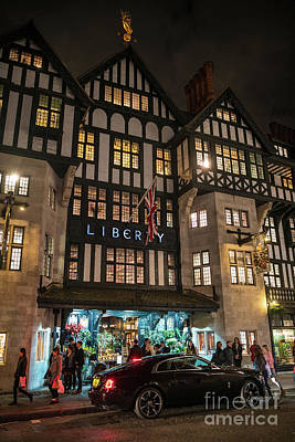 Photograph - Liberty Of London Out Front Night by Mike Reid