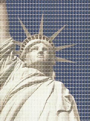Liberty On Blue Original by Gary Hogben