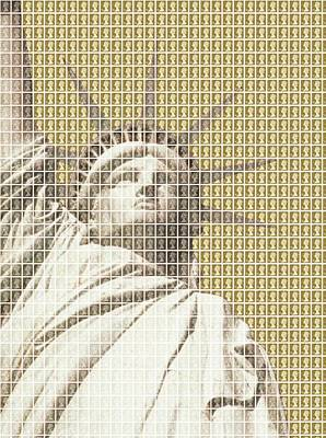 Liberty On Gold Original by Gary Hogben