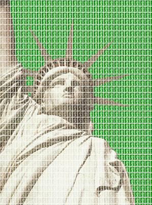 Liberty On Green Original by Gary Hogben