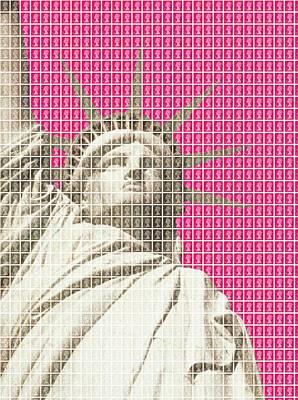 Liberty On Pink Original by Gary Hogben