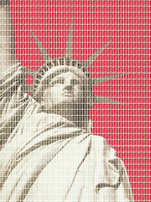 Liberty On Red Original by Gary Hogben