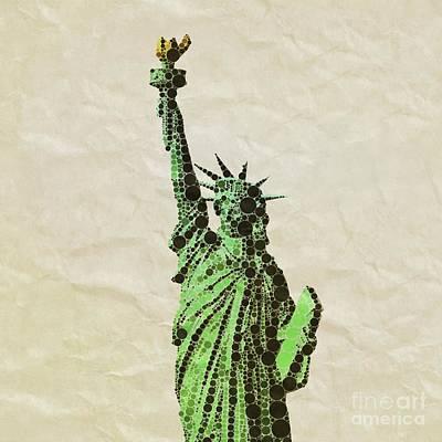 Thoth Digital Art - Liberty, Pop Art By Mb by Mary Bassett