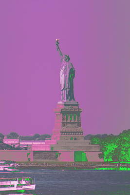 Photograph - Liberty Purple Sky by Christopher Kirby