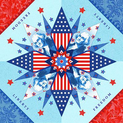 George Washington Digital Art - Liberty Quilt by Valerie Drake Lesiak