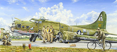 B-17 Wall Art - Painting - Liberty Run by Charles Taylor