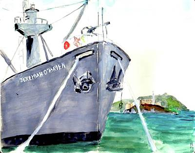 Painting - Liberty Ship S S Jeremiah O'brien by Tom Simmons