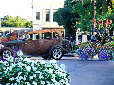 Photograph - Liberty Square Car Show by Steve Karol