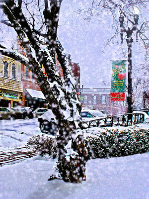 Photograph - Liberty Square In Winter by Steve Karol