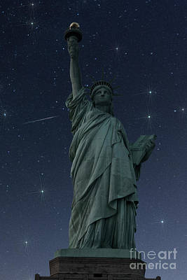 Photograph - Liberty Starry Starry Night by Steve Purnell