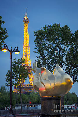Photograph - Liberty Torch And Eiffel by Brian Jannsen