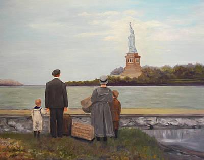 Painting - Liberty View From Ellis Island by Sandra Nardone
