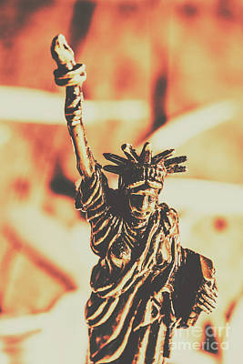 Patriotic Bronze Photograph - Liberty Will Enlighten The World by Jorgo Photography - Wall Art Gallery