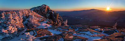 Photograph - Liberty Winter Sunset Pano 2 by Chris Whiton