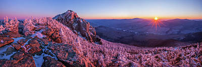 Photograph - Liberty Winter Sunset Panorama 1 by Chris Whiton