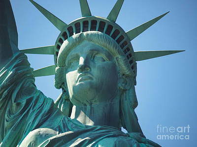 Photograph - Liberty's Close Up by Robin Zygelman