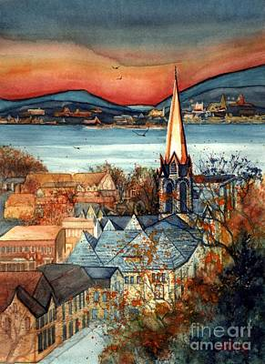 Painting - Liberty's Light - Newburgh Ny by Janine Riley