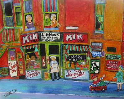 Pepsi Sign Painting - Libman's Grocery Memories by Michael Litvack