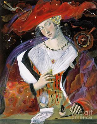 Pendant Necklace Painting - Libra by Annael Anelia Pavlova