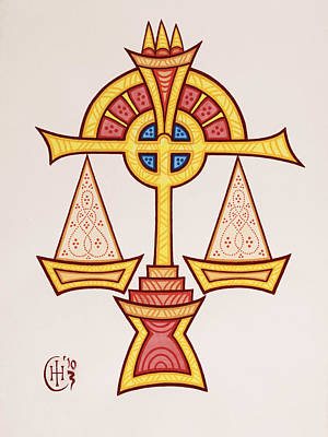 Libra Art Print by Ian Herriott