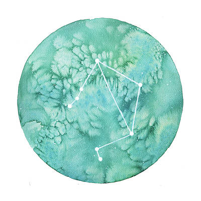 Zodiac Painting - Libra by Stephie Jones