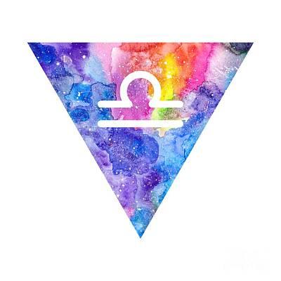 Zodiac Symbols Mixed Media - Libra Zodiac by Marina Demidova