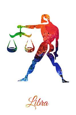 Digital Art - Libra Zodiac Sign by PixBreak Art