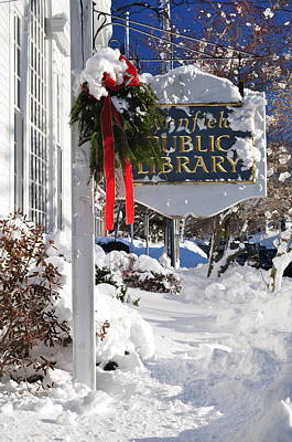 Photograph - Library After Snow by Caroline Stella