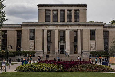 Penn State University Photograph - Library At Penn State University  by John McGraw