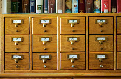 Photograph - Library Card Catalog by Brian Green