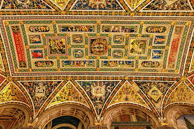Photograph - Library Ceiling In Siena Cathedral by Carolyn Derstine