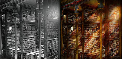 Photograph - Library - It Starts With A Single Page 1920 - Side By Side by Mike Savad