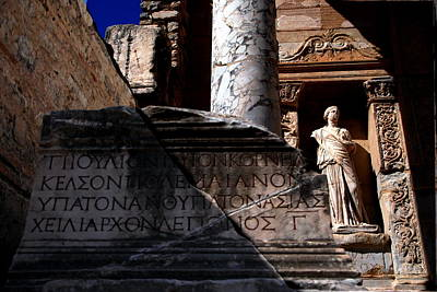 Photograph - Library Of Celsus - Color by Jacqueline M Lewis