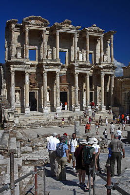 Library Of Celsus Art Print by Sally Weigand