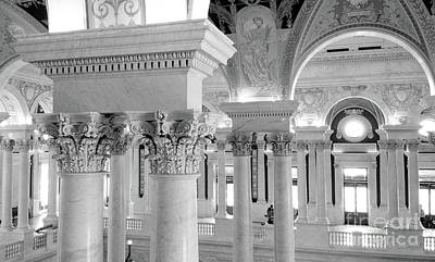 Photograph - Library Of Congress 2 Black And White by E B Schmidt