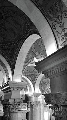 Photograph - Library Of Congress 3 Black And White by E B Schmidt
