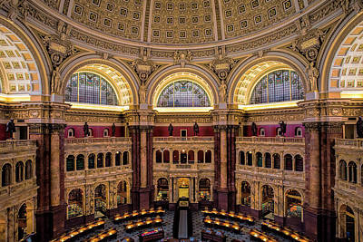 Historic Architecture Photograph - Library Of Congress by Andrew Soundarajan