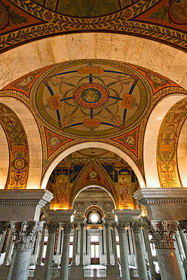 Photograph - Library Of Congress Arches And Murals #2 by Stuart Litoff