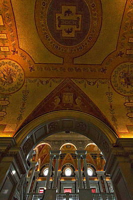 Photograph - Library Of Congress Arches And Murals #3 by Stuart Litoff