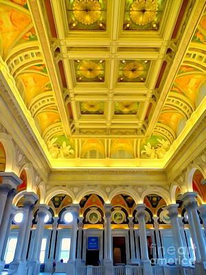 Digital Art - Library Of Congress Grandeur #3 by Ed Weidman