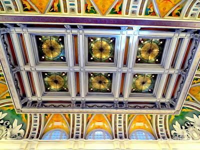 Digital Art - Library Of Congress Ceiling #2 by Ed Weidman