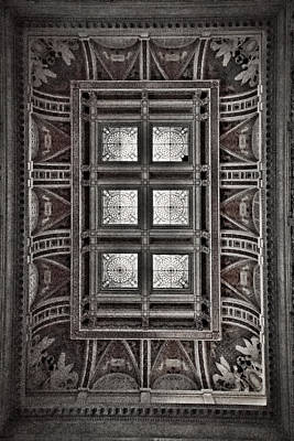 Photograph - Library Of Congress Ceiling And Skylight by Stuart Litoff