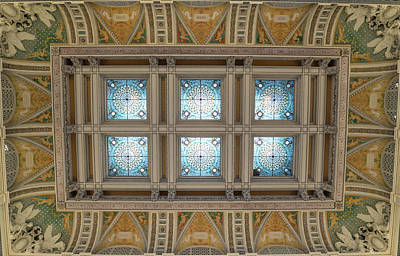 Photograph - Library Of Congress Ceiling  by Jared Windler